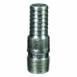 BK Products  3/4 in. Barb   x 3/4 in. Dia. MPT  Galvanized Steel  Adapter