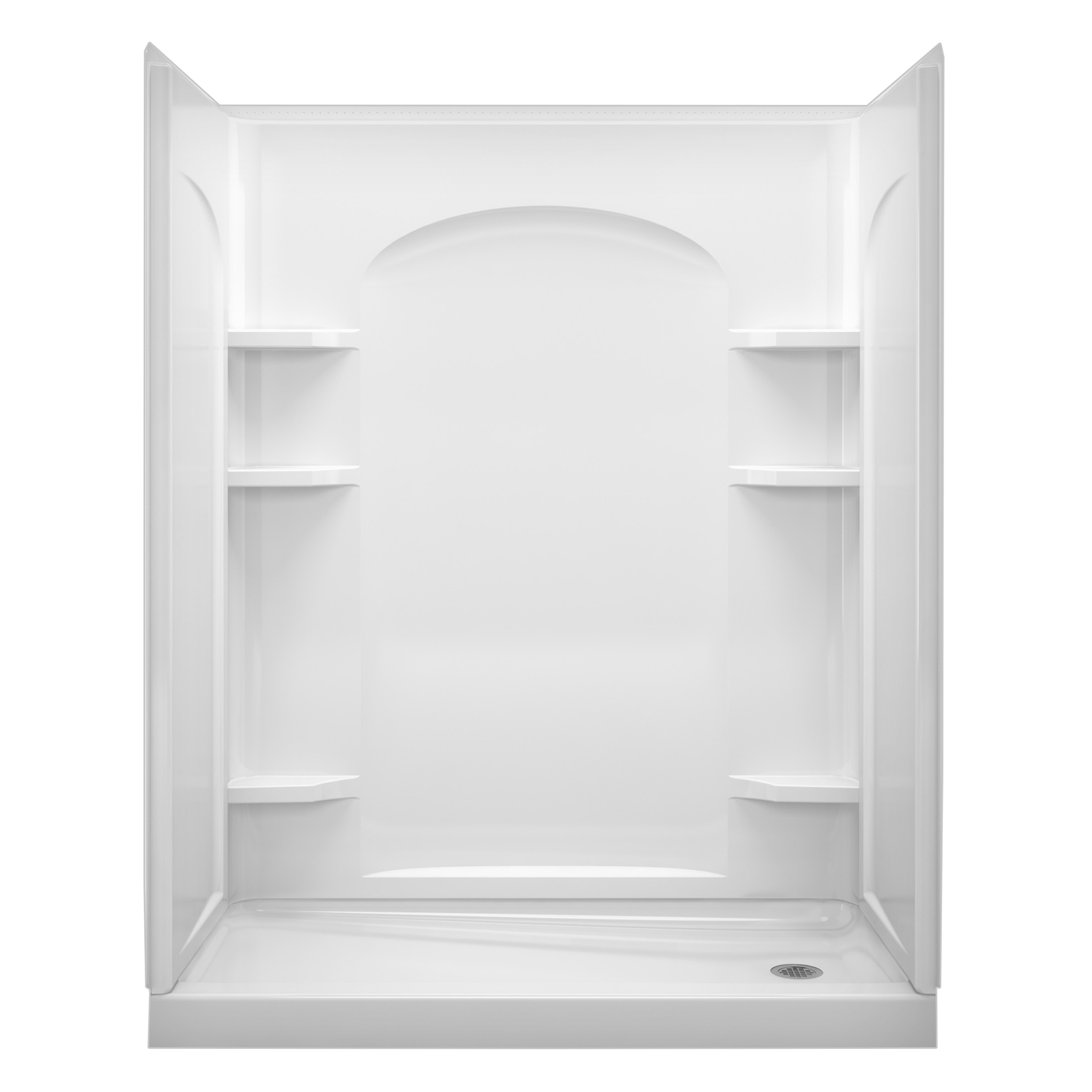 Sterling  Ensemble  75-1/4 in. H x 30 in. W x 60 in. L White  Three Piece  Rectangular  Shower Wall