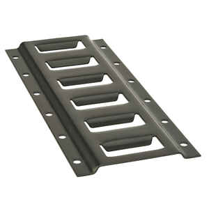 Keeper  1 ft. L Black  E-Track  2000 lb. 1 pk