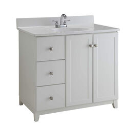 Design House  Shorewood  Single  Semi-Gloss  Vanity Cabinet  36 in. W x 21 in. D x 33 in. H