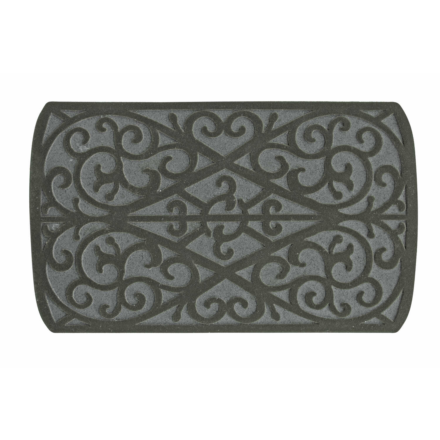Bacova Guild  Gray  Rubber  Nonslip Floor Mat  30 in. L x 18 in. W