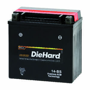 DieHard  Sealed 12 amps Powersport Battery