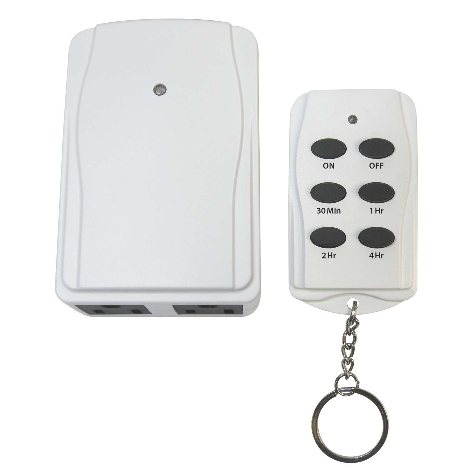 Prime  Indoor  Timer With Remote Control and Grounded Outlets  White