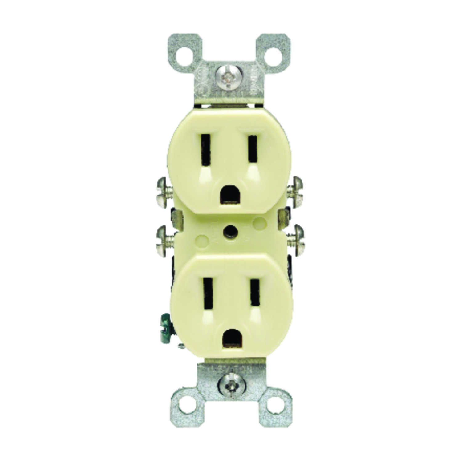 Leviton  CO/ALR  15 amps 125 volt Ivory  Outlet  5-15R  1 pk