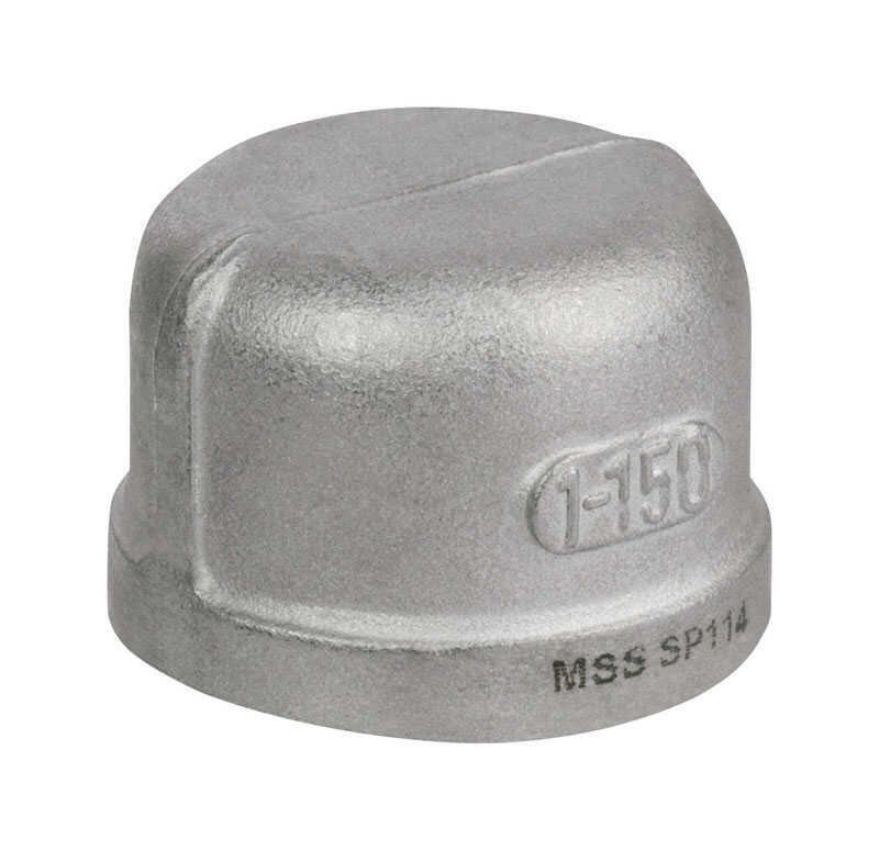 Smith Cooper  2 in. FPT   Stainless Steel  Cap