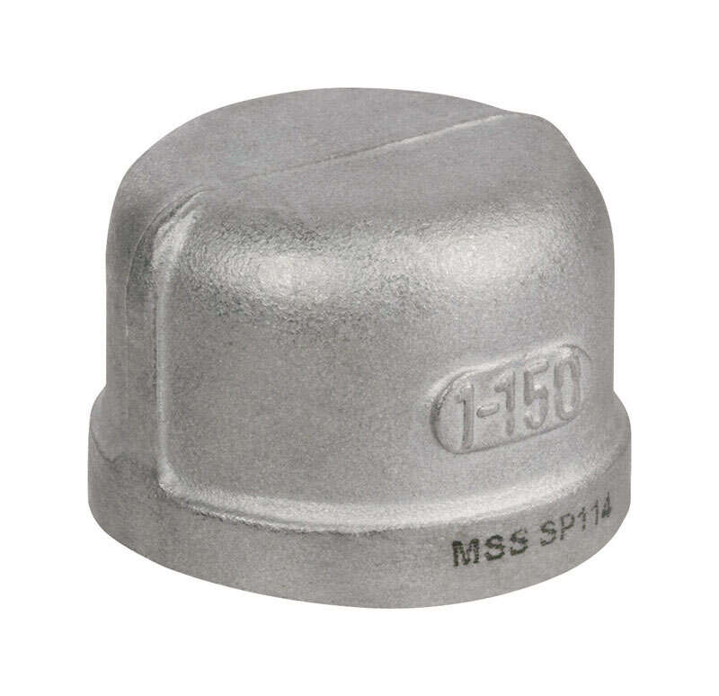 Smith-Cooper  2 in. FPT   Stainless Steel  Cap
