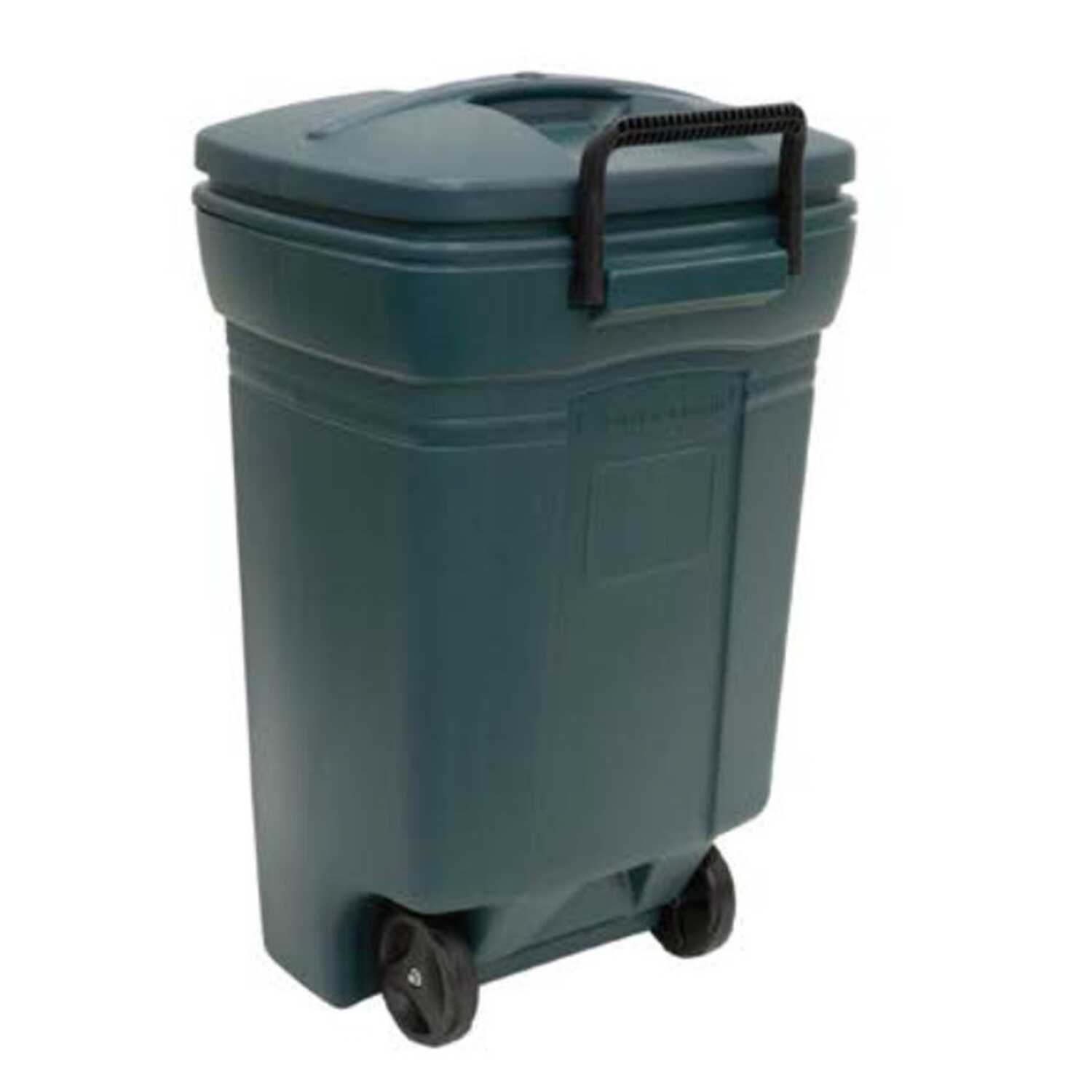 Small Trash Can Rubbermaid: Rubbermaid Roughneck 45 Gal. Plastic Wheeled Garbage Can