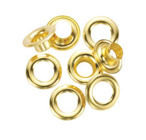 General Tools  1/4 in. Dia. x 0.25 in. Dia. Brass  Grommet  24 count