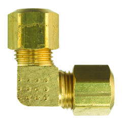 JMF  5/8 in. Compression   x 5/8 in. Dia. Compression  Yellow Brass  Elbow