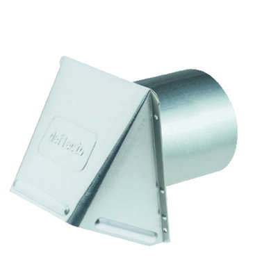 Deflect-O  5 in. Dia. Aluminum  Wall Cap With Damper