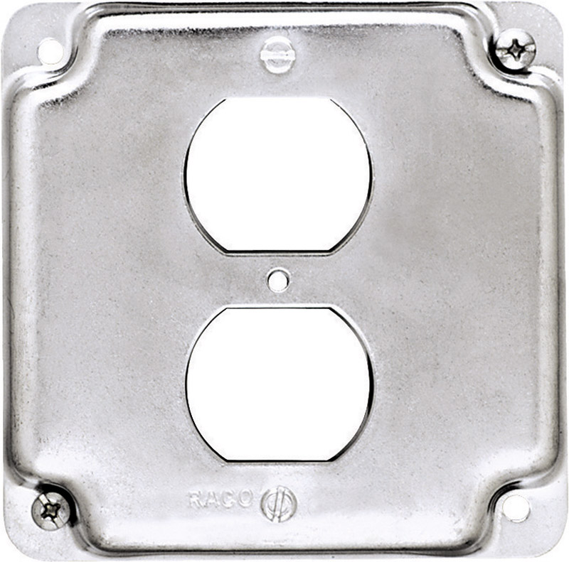 Raco  Square  Steel  Box Cover  For 1 Duplex Receptacle