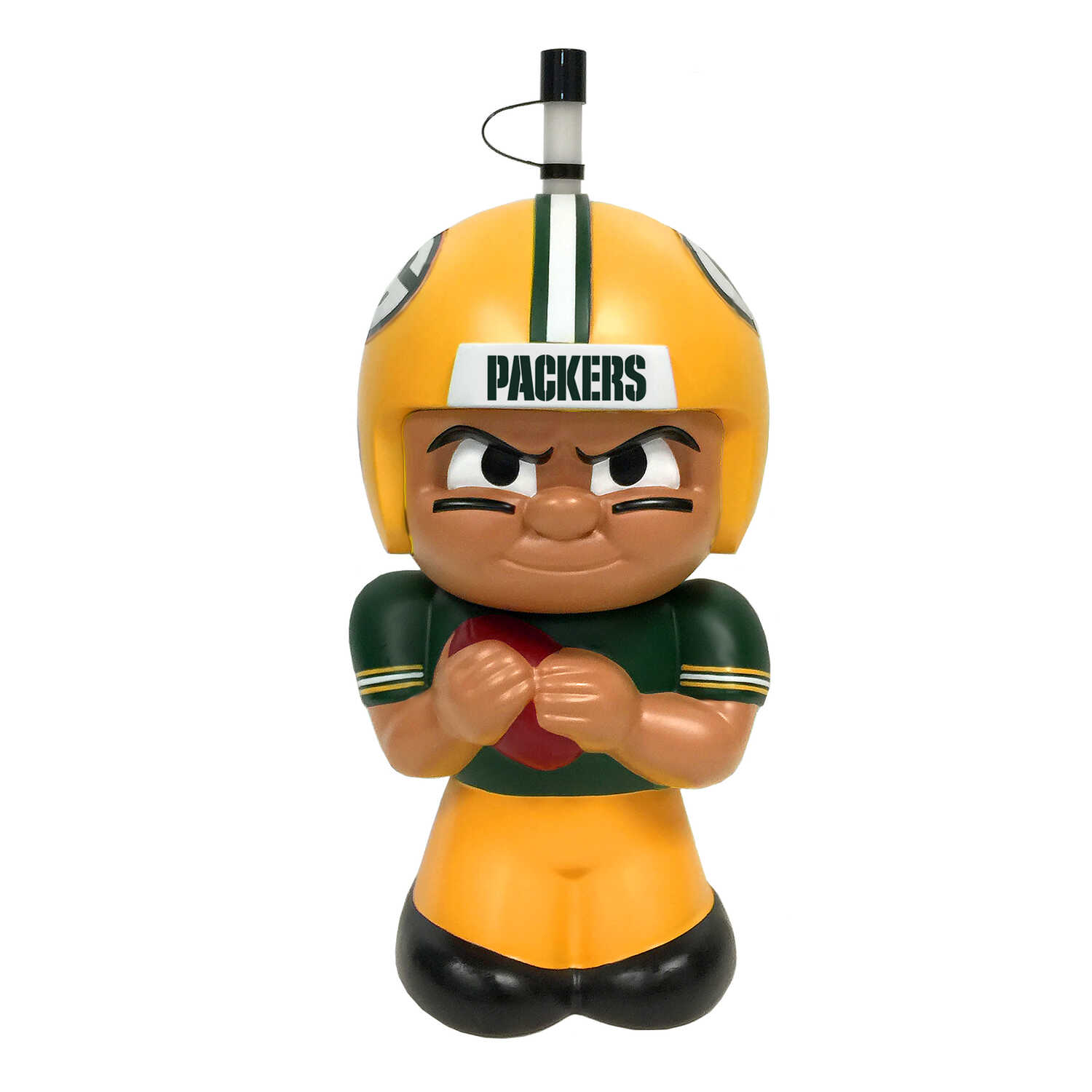 Party Animal  TeenyMates  Packers  Plastic  3D Character  Water Bottle  BPA Free 16 oz.