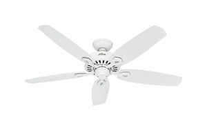 Hunter Fan  Builder Elite  52 in. 5 blade Indoor  Snow White  Ceiling Fan