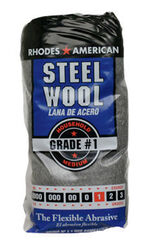 Rhodes American  1 Grade Medium  Steel Wool Pad  12 pk