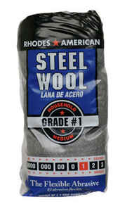 Rhodes American  1 Grade Medium  Steel Wool Pad  12