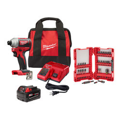 Milwaukee M18 18 volt 1/4 in. Cordless Brushless Impact Driver Kit (Battery & Charger)