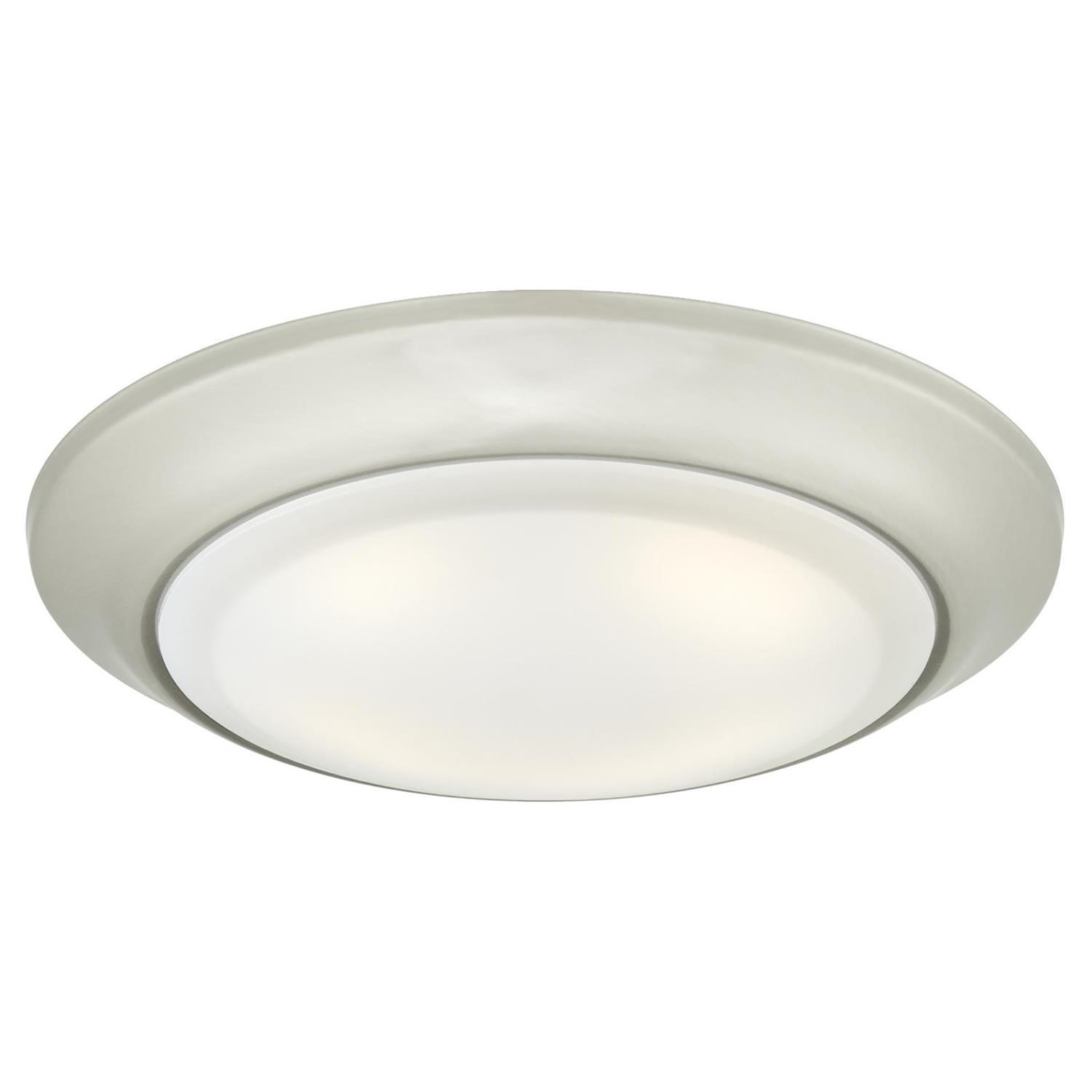 Westinghouse  Metallic  Brushed Nickel  Steel  Recessed Light Fixture  LED  5.5 in. W