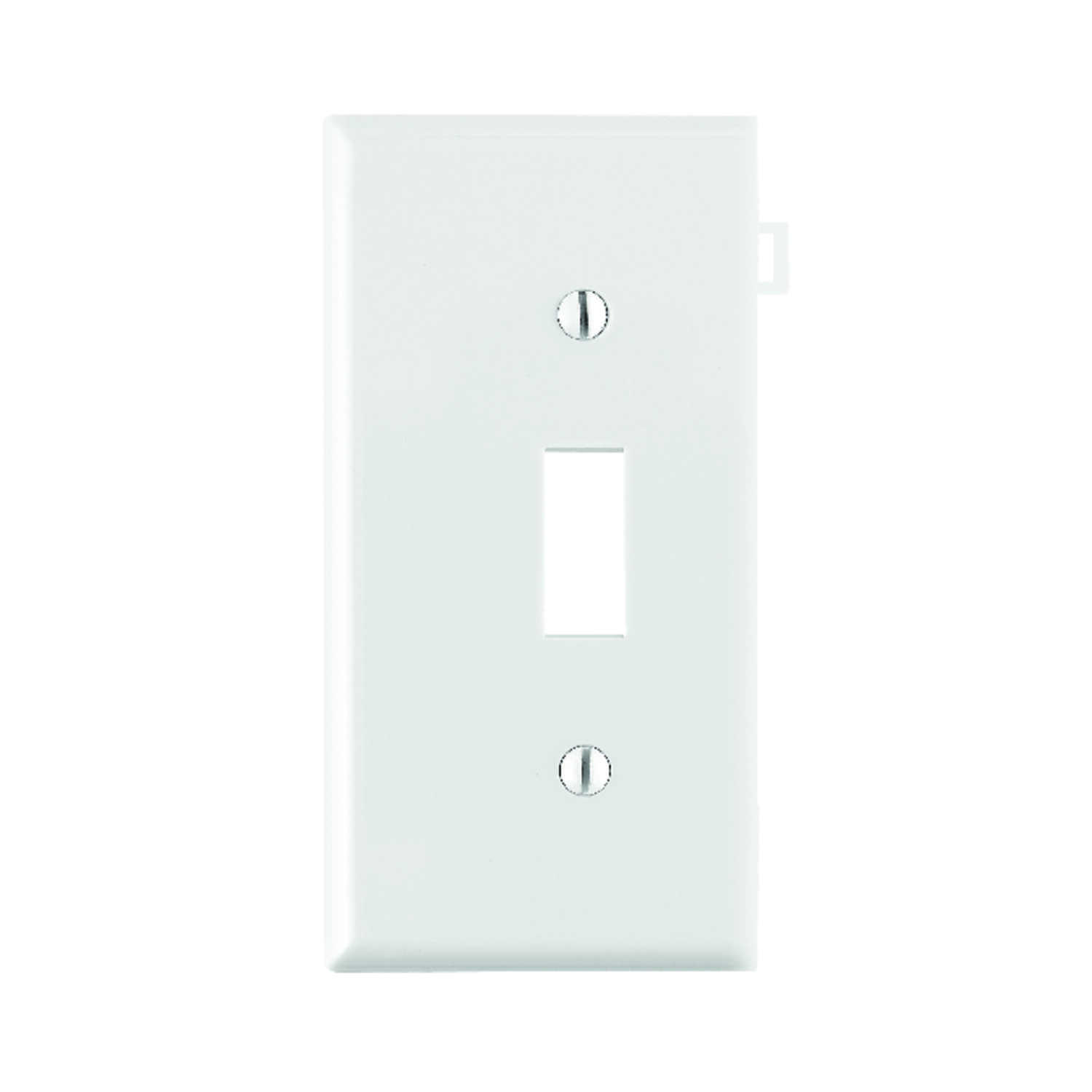 Leviton  End Section  White  1 gang Toggle  Wall Plate  1 pk Nylon