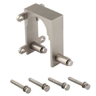 National Hardware  Satin Nickel  Steel  By-Pass Guide  2 pk