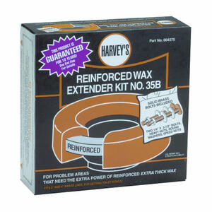 Harvey's  No. 35B  Toilet Flange Extender Kit  For 3 in. and 4 in. waste lines