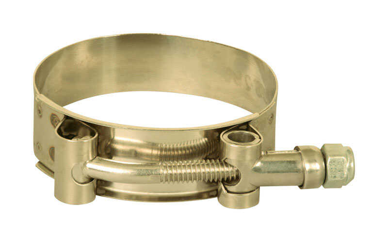 Apache  2.4 in. Dia. Stainless Steel  T-Bolt Clamp