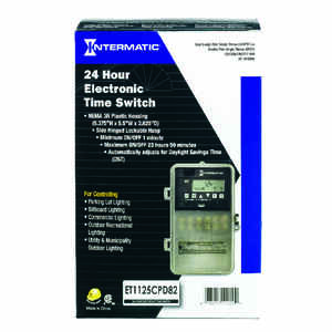 Intermatic  120-277 volts 24 Hour Dial Timer  Outdoor  Gray