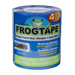 FrogTape  Pro Grade  1.41 in. W x 60 yd. L Blue  Medium Strength  Painter's Tape  4 pk