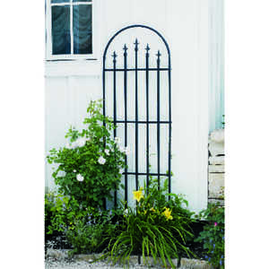 Panacea  80 in. H Black  Steel  Trellis