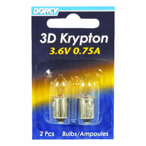 Dorcy  3D  Krypton  Flashlight Bulb  3.6 volt Bayonet Base
