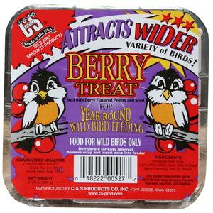 C&S Products  Berry Treat  Assorted Species  Wild Bird Food  Beef Suet  11.75 oz.