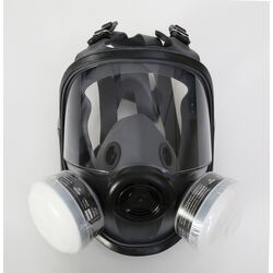 Honeywell  North  R95  Paint Spray and Pesticide  Full Facemask Respirator  5400  Black  M/L  1 pc.