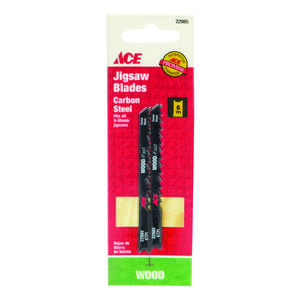 Ace  3-1/8 in. Carbon Steel  U-Shank  Jig Saw Blade  6 TPI 2 pk