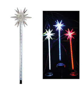 Alpine  Glass  32 in. H Outdoor Stake  Starburst