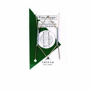 Tripar  5 in. to 7 in.  Brass  Bent Curves  Plate Hanger  1 pk