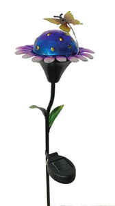 Smart Living  Metal  Multi-Colored  25-9/16 in. H Solar Garden Stake