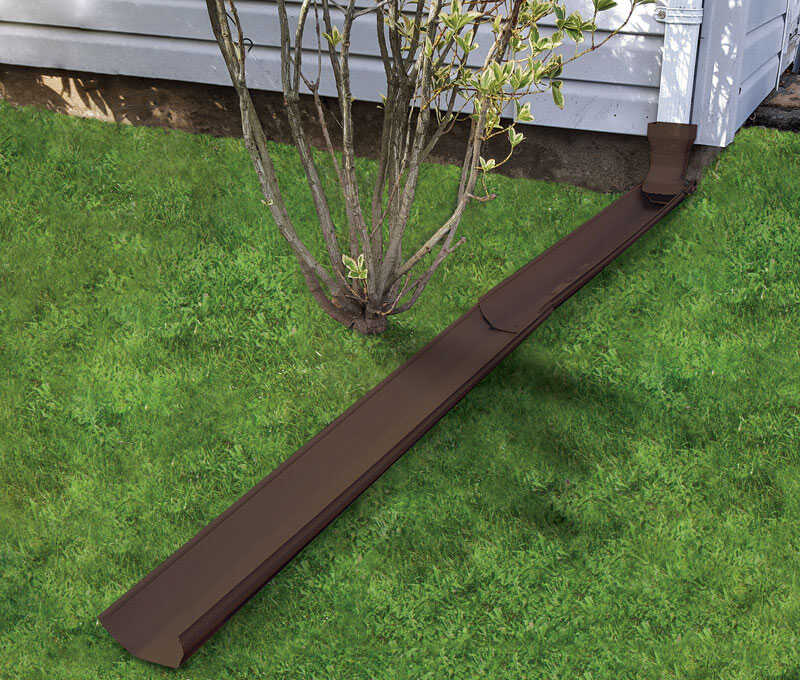 Frost King  Tilt N' Drain  5-1/2 in. W x 6 ft. L Brown  Vinyl  Downspout Extension