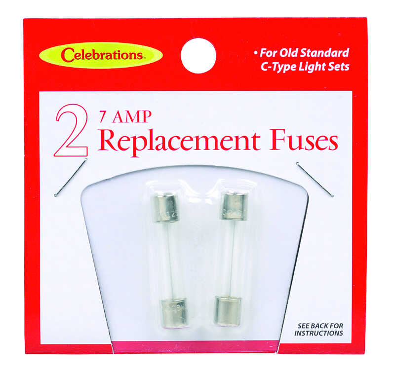 Celebrations  C-Type  Replacement Fuses  Clear  2 lights