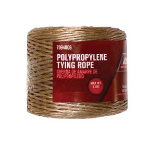 Ace  400 ft. L Brown  Poly  Twine  Twisted
