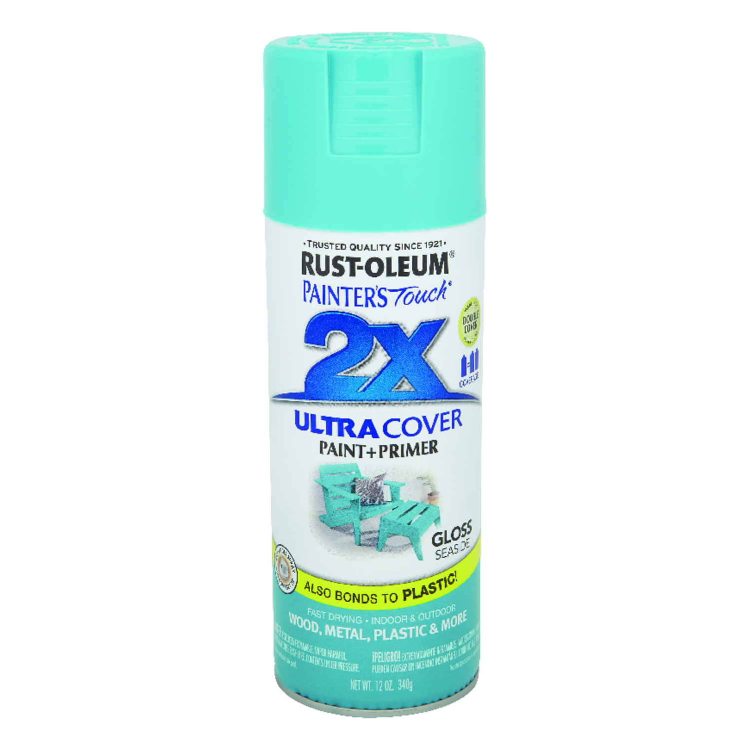 Rust-Oleum  Painter's Touch Ultra Cover  Gloss  Spray Paint  12 oz. Seaside