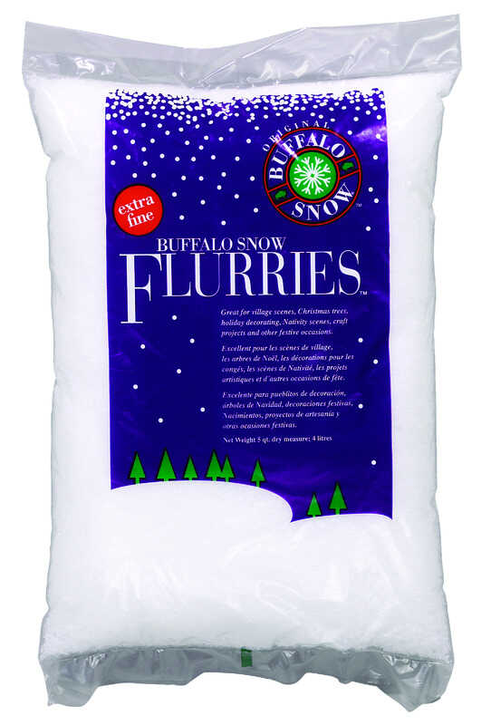 Buffalo  Christmas  Snow Flurries  Synthetic  1 pk White