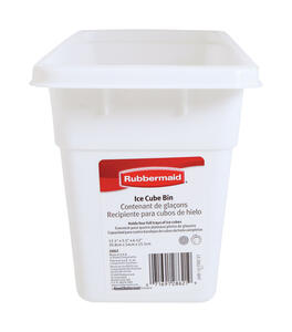 Rubbermaid  5-1/2 in. W x 12-1/8 in. L White  Plastic  Ice Cube Bin  1