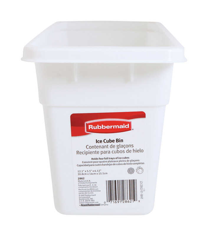 Rubbermaid  5-1/2 in. W x 12-1/8 in. L White  Ice Cube Bin