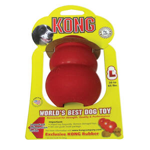 Kong  Red  Original Dog Toy  Rubber  Pet Toy  Large