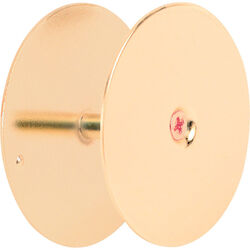 Prime-Line  Brass Plated  Steel  Hole Cover Plate  1 pk