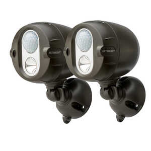 Mr. Beams  Plastic  Black  Motion-Sensing  Battery Powered  Spotlight