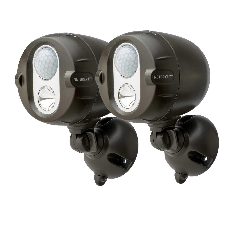 Mr Beams Motion Sensing Battery Powered Black Spotlight