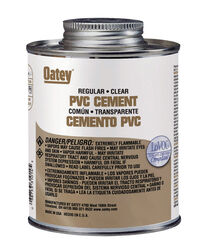 Oatey  Clear  Cement  For PVC 32 oz.