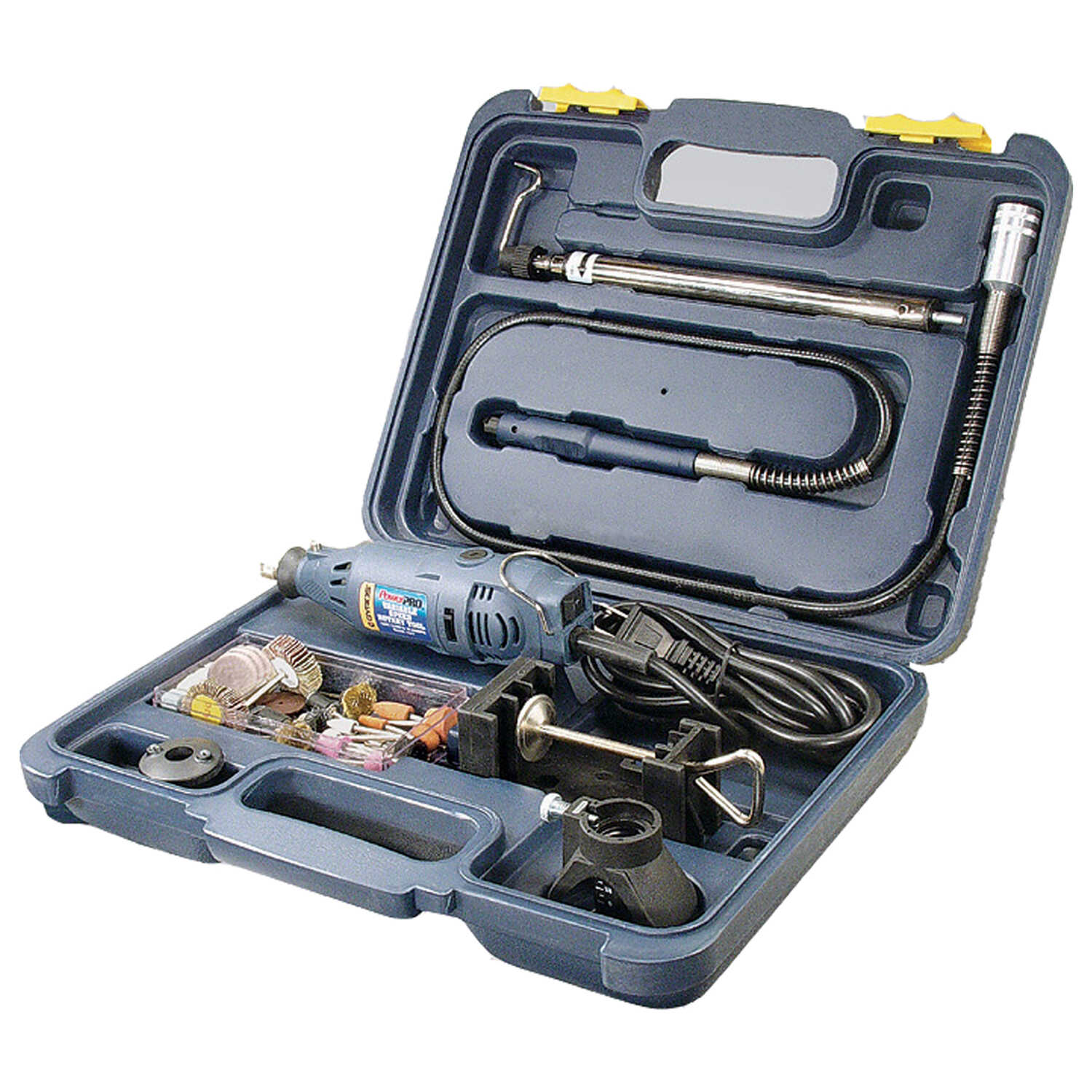 Gyros Tools  Power Pro  1/8 in. Cordless  Rotary Tool Kit  Rotary Tool  Kit 1.2 amps 9.6 volt 35000