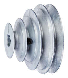 Chicago Die Cast  2 / 2 1/2 / 3 1/2 / 4 in. Dia. Zinc  V Groove 4-Step Pulley