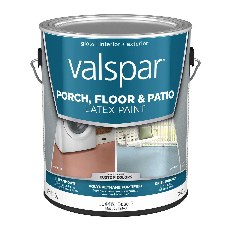Valspar Gloss Clear Base 2 Latex Porch Amp Floor Paint 1 Gal